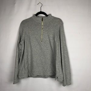 CROWN & IVY Gray Pullover with Lace in Size XL
